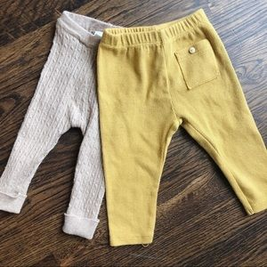 Zara baby lot- two different baby leggings